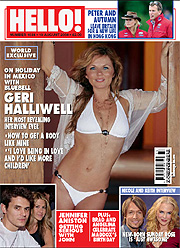th 53100 geri mag 1b 122 136lo Spice girl Geri Halliwell looking hot in bikini