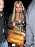 Britney Spears shows some cleavage and looks good at SUR Resataurant in Hollywood